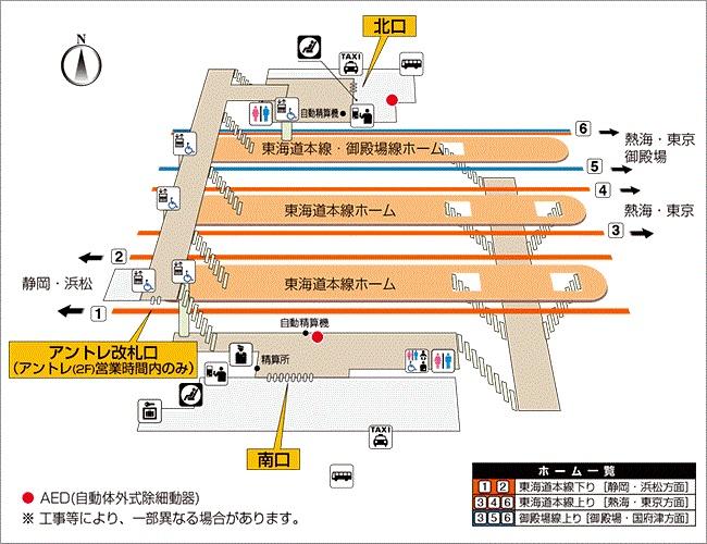 図 構内 三島 駅